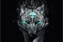 воющие / арты волков