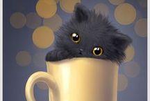 котики / арты кошек