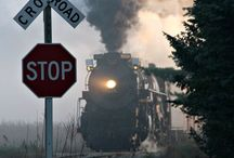 Trains, Train tracks and train stations / Grew up close to trains ... Loved going on them .... Wonderful memories