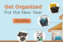 Get Organized for the New Year / Shop Storage and Organization items from HowardStore.com