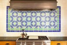 Fireclay Handpainted Tile / Fireclay Tile has always been deeply rooted in tradition, which is why we are especially fond of our Handpainted Tile. Using a proprietary wax resist technique, we are able to create beautiful, authentic decorative tiles perfect for accent pieces or bold feature installations, and are suitable both indoors and outdoors.  www.fireclaytile.com / by Fireclay Tile