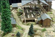 MR~ Lumber mill scene / Lumber mill scene ideas