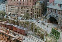 MR~ City scene / Model railroad scene ideas