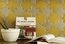 Tile Vingette Inspiration / Here are some of our favorite ways to style kitchen tile backsplashes and accent walls.  / by Fireclay Tile