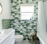 Fireclay Tile Colors: Greens / Fireclay Tile color inspiration featuring our green and serene tile hues.