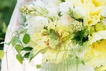 Pastel green and yellow wedding