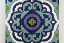Handpainted Tile: The Mediterranean Collection / Inspired by an old-world aesthetic, the Mediterranean Collection boasts artisinal craftsmanship and careful attention to detail. Mimicking our favorite hues found in nature,  this colorful collection ranges from boldly saturated blues, to warm terra cotta-inspired reds, and deep forest greens. / by Fireclay Tile