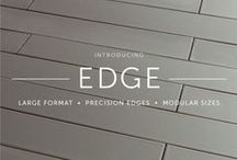 "EDGE: Large Format Tile, Rectified Edges, Modular Sizes / Available in 3 modular sizes, 3x9"", 3x18"" or 6x18"", and 12 contemporary colors, EDGE brings a large format modern look to the timeless craft of handmade tile. Manufactured with a precision edge on a 70% recycled clay body, EDGE is installed with minimal grout lines, which accentuates the long lean shape of the three modular tile sizes. / by Fireclay Tile"