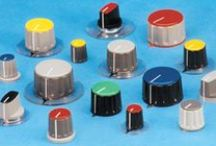 """Plastic Knobs / Application: Different collet sizes are available to suit the different shaft diameter of potentiometers & Band switches of different makes and designs. 6.35 mm (1/4 """"), 6 mm & 4 mm. are standard shaft diameter used. #GaurangEnclosures"""