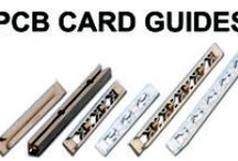 """PCB Card Guides / Application: #PCB #CARD #GUIDES provides guides to PCBs in standard 19"""" Rack systems, Rack chassis and for P. C. card 1/ 16"""", thick Guide. #GaurangEnclosures"""