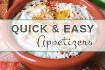 Easy Appetizers & Dips / Healthy, crowd-pleasing appetizers that are easy to make & taste amazing!
