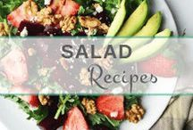 Salad Ideas & Recipes / Salads make for the perfect snack or light meal. Here are my favorite recipes and ideas for quick and healthy salads!