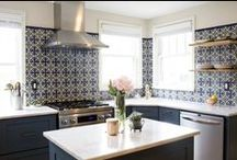 Handpainted Tile: Kitchen Backsplash Inspiration / From classic to contemporary kitchens, our Handpainted tiles can really add wow-factor to your backsplash. We're sharing some of our favorite installations and inspiration on how to use them.