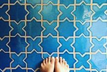 Floor Tile: Step Up Your Bathroom Style / We have this thing for floors...tile floors specifically and tile is perfect for a bathroom setting. From the floors to the shower pan, we're sharing some of our favorite designs and inspiration.