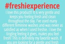 """freshie testimonials / Learn about the """"freshie experience"""" direct from our customers."""