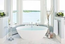 Glorious Bathroom / Glorious bathtubs and hotel style bathroom design. More on the blog: http://lacenruffles.com/2014/07/21/12-glorious-bathtubs-hotel-style-bathrooms/