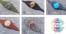 macrame bracelets LinArt / Bransoletki z kamieniami i minerałami