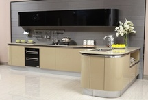 Olive Color Kitchen Cabinet (Mode:OP13-076) / 2013 Olive Color Kitchen Cabinet with 1.8mm Acrylic Finish Design