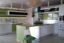 OPPEIN Products in Accra Showroom, Lagos and Abuja / OPPEIN kitchen cabinets are displayed in Accra Showroom