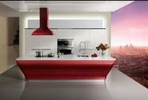 2012 High Gloss Lacquer Series of Kitchen Cabinet - Cruiser / This high gloss of red lacquer kitchen cabinet is designed by Michael Nardi Tonet who is one of the most creative designers and architect in Italy, in 2005, he founded his studio in Florence and committed to changing people life with his design ideas. Now his works have been widely published in many well-known international architectual & design magazines.