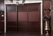 2013 Wardrobe Model: YG11326 / Bedroom Furniture Item Name: Modern Brown Built-in Wardrobe | Closet with 3 Sliding  Doors Wardrobe Model: YG11326 Cabinet Material: E0 grade of MDF / Particle Board (Environment-friendly materials) Cabinet Material Finish: Melamine (6221) Waist Line: PU leather Dimension Specification: 3000W*600D*2400H