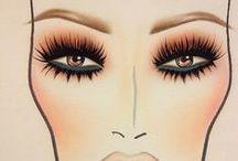 make up & fashion drawings / glam