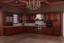 2014 OPPEIN New Kitchen Cabinet Solid Wood Cabinets Custom Design / http://www.oppeinhome.com/product/kitchen-cabinet-op14-123?search=OP14-123