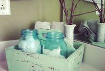 *bathroom DIY decor / Hello beautiful! Bathroom decor and storage ideas.