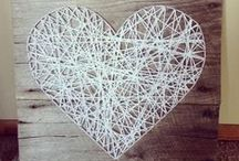 Valentine's Day DIY / I ♥ U! Simply lovely DIY home decor and craft ideas for Valentine's Day.