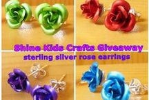Handmade Earrings Necklace Pendant / As my shop has been changed to Shine Kids Crafts, instead of Shine Jewelry, all related jewelry will be sold at wholesale price. Only some jewelry left, come and have a look: http://stores.ebay.com/Shine-Kids-Crafts / by Shine Kids Crafts