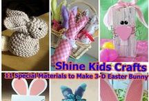 Kids Crafts - Easter Kids Crafts / 'Shine Kids Crafts' - a shop with special craft supplies / kits & sewing projects https://www.etsy.com/hk-en/shop/ShineKidsCrafts  / by Shine Kids Crafts