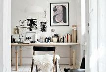 Creative work space / Creative areas that inspire and make you happy to do your work.