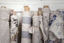 Fabric and fibers / Fabrics, patterns and textures all blended together for loveliness.