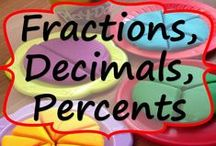 Fraction, Decimals, Percents / This board includes fractions, decimal, and percent teacher resources. These resources include activities, task cards, error analysis, and graphic organizers .