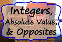 Integers, Absolute Value & Opposites - COMMON CORE / This board includes teaching resources (lesson plans, projects, task cards, graphic organizers, error analysis, anchor charts) for integers, absolute value and opposite numbers. www.ExceedingTheCORE.com