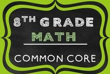 8th Grade Math COMMON CORE / This board includes all 8th grade math resources including lessons, activities, projects, and worksheets.  Topics include:  Number Sense, Real Numbers, Scientific Notation, Pythagorean Theorem, Translations, Linear Equations, Geometry, Surface Area, Volume, Statistics etc. Resources are Common Core Aligned: 8NS, 8F, 8EE, 8G, 8SP