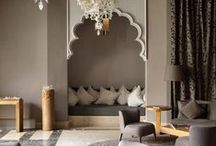 Arabian decor / Home is where the heart is. Simple, elegant, exotic Middle Eastern home decor and interiors.