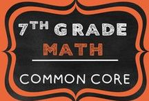 7th Grade Math COMMON CORE / 7th Grade Math Resources Aligned to the Common Core (7NS Number Sense, 7RP Ratios & Proportional Reasoning, 7EE Expressions & Equations, 7SP Statistics & Probability, 7G Geometry)