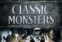 "Universal Classic Monsters 1931-1956 / Various pins from the 30 movies generally classified as the ""Classic Monsters"" of Universal Studios."