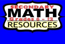 Secondary Math Resources  | Grades 6 - 12 / Pin your favorite SECONDARY MATH activities or resources !  If you would like to join this board, email me at exceedingthecore@gmail.com. Feel free to pin up to five resources per day.  Please include a FREE RESOURCE OR IDEA with your pins. Happy Pinning!