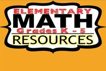 Elementary Math Resources | Grades K - 5 / Pin your favorite ELEMENTARY SCHOOL MATH activities or resources ! If you would like to join this board, email me at exceedingthecore@gmail.com. Feel free to pin up to five resources per day (Please try to include one free resource / idea with your pins).  Happy Pinning!