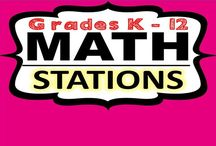 Math Stations | Grades K - 12 / This board includes math ideas and activities that can be used with math stations or math centers.  These resources include math task cards, graphic organizers, fluency practice, word problems, games and more.  If you would like to join this board, email me at exceedingthecore@gmail.com. Feel free to pin up to five resources per day. Please try to include a FREE RESOURCE OR IDEA with your pins. Happy Pinning!