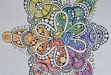 Doodles & Tangles / Doodles, Zentangles, Dangles