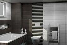 JOY, Πρόταση μπάνιου / Σχέδια μπάνιου σε κατοικία στην περιοχή Θεσσαλονίκης. Βασικό δομικό στοιχείο πλακάκια απο την σειρά JOY. Από το http://e-bath.net/