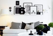 Room / Interior and room inspirations. I love black and white.