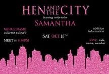 Bachelorette Party, Hens Night Invitations / Hens/Bachelorette Invitations to get the party started for the bride to be!