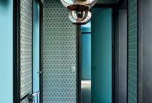Bleu canard / Deco Bleu canard / Peacock Blue interior home decor déco decoration architecture d'intérieur