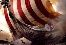 Vikings,  axes,  knives,  armor