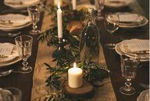 Table pour les fêtes / Les fêtes de fin d'année s'accompagnent de jolis moments passés en famille et entre amis autour d'un bon repas. Je vous propose ici des inspirations pour décorer votre table de fête.