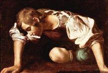 Caravaggio / Michelangelo Merisi da Caravaggio (Milán, 29 de septiembre de 1571 – Porto Ércole, 18 de julio de 1610) fue un pintor italiano activo en Roma, Nápoles, Malta y Sicilia entre los años de 1593 y 1610. Es considerado como el primer gran exponente de la pintura del Barroco.